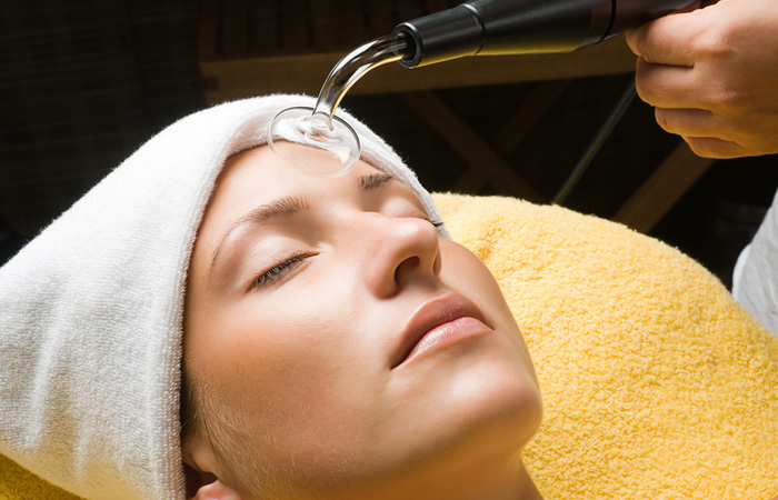 Facial Using High Frequency in Florida